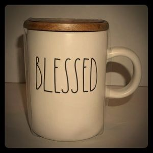 Rae Dunn BLESSED MUG WITH LID